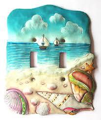 shells u0026 shellfish in hand painted metal wall decor u0026 switchplates