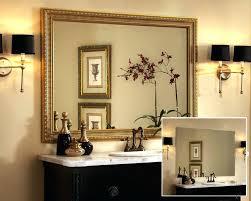 ideas for bathroom mirrors mirror frame ideas iammizgin com