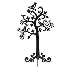metal family tree earring jewelry display stand organizer holder