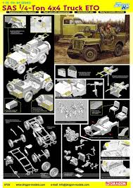 cartoon jeep front dragon 1 35 6725 sas 1 4 ton 4x4 truck eto jeep plastic model kit