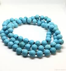 natural turquoise necklace images Online cheap round bead long necklace knotted necklace natural jpg