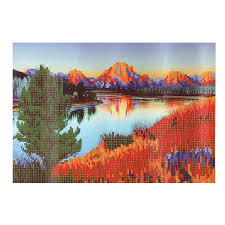 5d diamond painting diy lake room embroidery cross stitch home