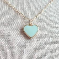 green heart pendant necklace images Best dainty 14k heart necklace products on wanelo jpg