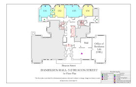 Powder Room Layouts Danielsen Hall Floor Plan Housing Boston University