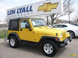 jeep rubicon yellow 2004 solar yellow jeep wrangler rubicon 4x4 28936603 gtcarlot