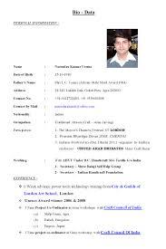 simple biodata format for job biodata cv ins ssrenterprises co