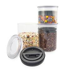 Clear Kitchen Canisters The Airscape Glass The Clear Kitchen Canisters That