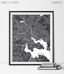 map of maryland to print baltimore map print baltimore city map of baltimore