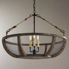 Wire Chandelier Diy Photo Of Chicken Wire Chandelier Diy Farmhouse Lamp Shade House