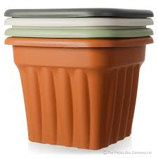 buy plastic planters for the garden large square cream black green
