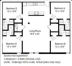 four bedroom floor plans boone apartments