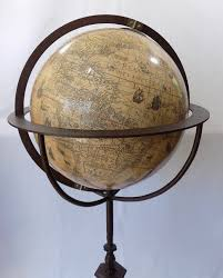 World Globe Light Fixture by Hondius Terrestrial Floor Globe With Sailing Ships And Sea Serpents