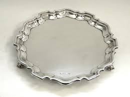 engraved silver platter vintage solid silver 10 salver tray sheffield 1937 engravable