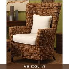 tamayo high back wicker arm chair wicker chairs living rooms