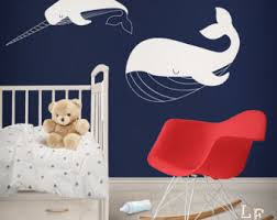 nursery wall stickers penguin cubs orca whale