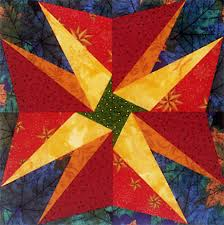 thanksgiving free paper pieced quilt block pattern by