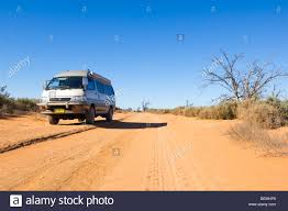 toyota national toyota hiace campervan on an unsealed road mungo national park