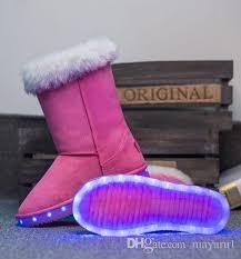 light up rain boots winter boots led shoes black light up shoes luminous women kids usb