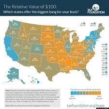 Map Of The States In United States by Here U0027s What 100 Is Worth In Each State