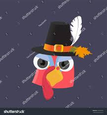 picture for thanksgiving day vector cartoon illustration thanksgiving day bizarre stock vector