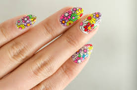 groovy flower nail wraps kiss nail strips review the fancy