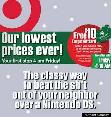 target black friday store ad black friday ads what they should really say photos huffpost