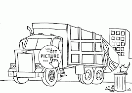 simple garbage truck coloring page for kids transportation