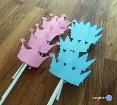 gender reveal cake toppers cupcake toppers prince or princess gender reveal party baby