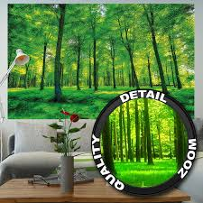 Wall Mural Sunrise In A Forest Wall Paper Self Adhesive Amazon Com Wallpaper Trees Wall Picture Decoration Nature Pure