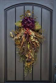 front door swag fall swag wreath fall door swag sunflower swag