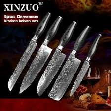 forged japanese kitchen knives 5 pcs kitchen knives set japanese vg10 damascus steel kitchen
