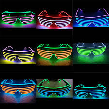 party sunglasses with lights 1pcs 30 colors flashing eyeglass party led light glasses halloween