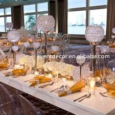 Wedding Candle Holders Centerpieces by Crystal Candle Holder Wedding Decorations Pillar Candle Holder