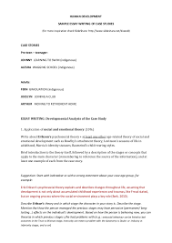 human development essay writing samples of case studies
