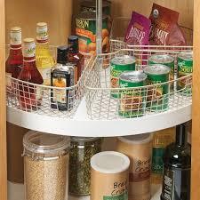 organize lazy susan base cabinet keep it neat these lazy susan bins maximize corner cabinet space