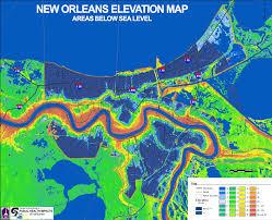 louisiana elevation map louisiana still finding damage entrancing map of new
