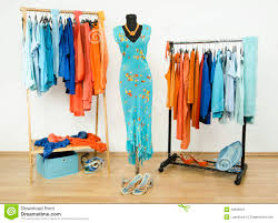 Complementary Colors by Dressing Closet With Complementary Colors Blue And Orange Clothes