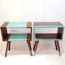 mid century end table scandinavian end table coffee table style tarot solid oak and glass