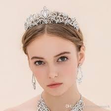 bridal crowns shining beaded crystals wedding crowns 2016 bridal veil