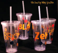 tumbler gift ideas new teacher gift straw cup the crafty blog