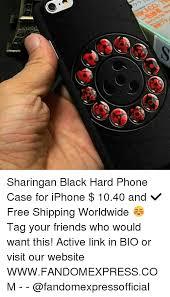 Phone Case Meme - sharingan black hard phone case for iphone 1040 and free