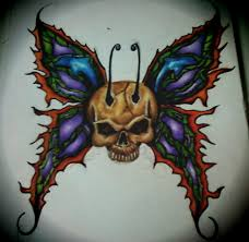morphing butterfly and skull with dolphins by skulls butterflies on