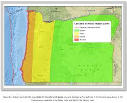 Oregon Earthquake Map by January 26 1700 A 9 0 Cascadia Subduction Zone Earthquake