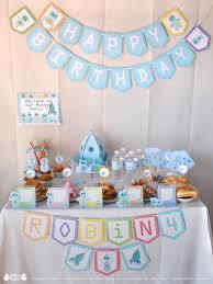 robots and rocket birthday party decoration kit papier bonbon