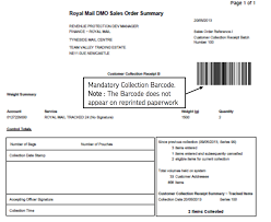 royal mail run end of day eod process collection receipt postmen