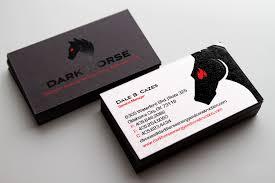 Business Card Logos And Designs Dark Horse Business Card U0026 Logo Design