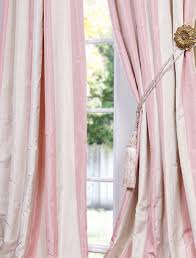 Pink Striped Curtains Pink Stripe Taffeta Got These For My Room Them