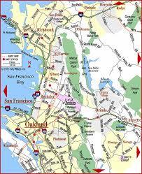 san francisco map east bay road map of bay area east bay orinda california aaccessmaps