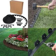 plastic garden edging ideas brick argee lets edge it decorative plastic brick edging with 6 solar