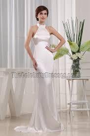high neck halter wedding dress simple mermaid halter wedding dress bridal gown thecelebritydresses